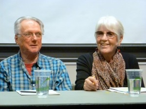 George Stanley & Joanne Kyger CPF2 Poetics Panel (foto by Linda Crosfield)