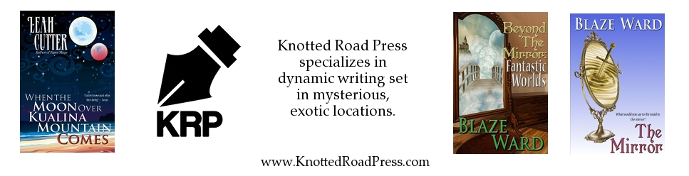 https://www.facebook.com/knottedroadpress or http://www.pinterest.com/knottedroad/